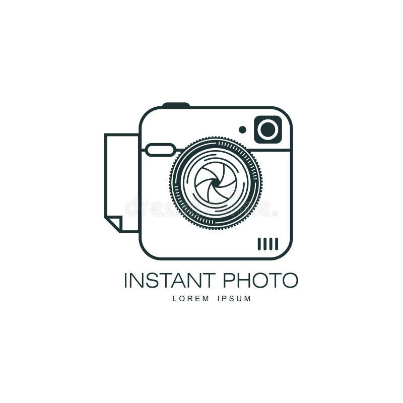 För fotokamera för vektor isolerad ögonblicklig symbol för lins stock illustrationer