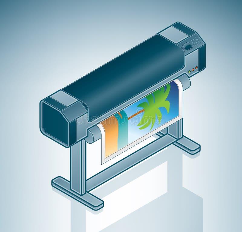 för fotoplottare för format stor skrivare vektor illustrationer