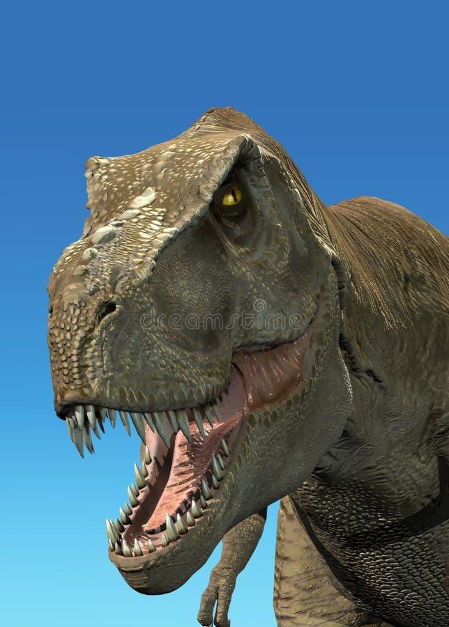 för framföranderex för 3 D tyrannosaurus vektor illustrationer