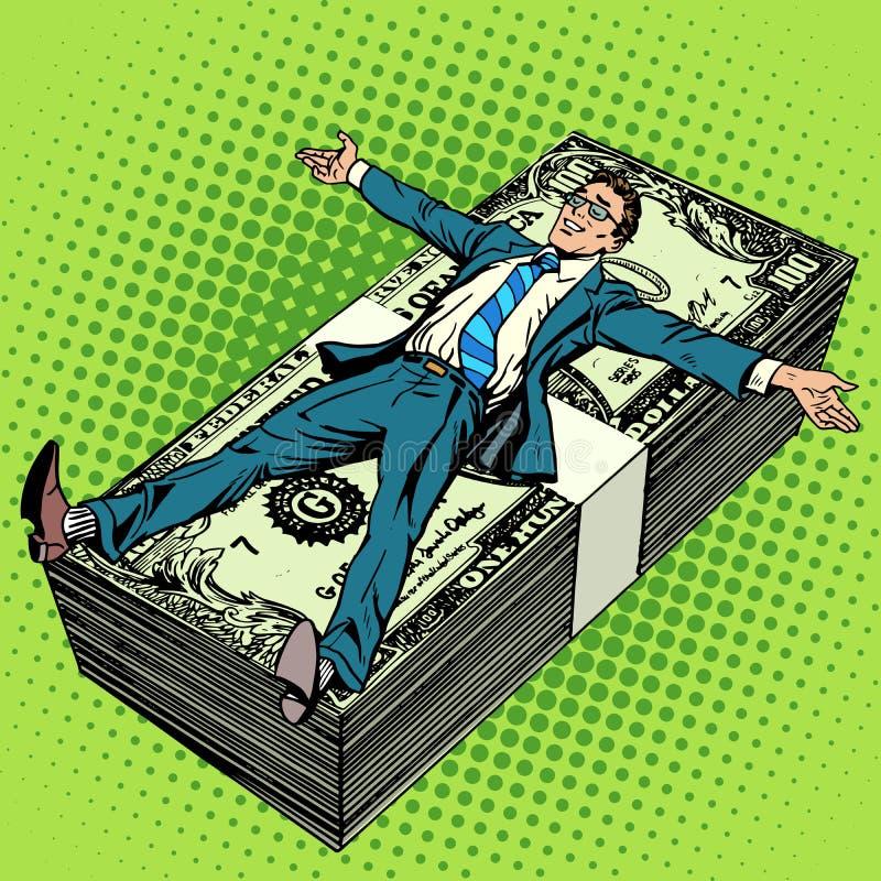 För framgångbegrepp för affär finansiell affärsman royaltyfri illustrationer