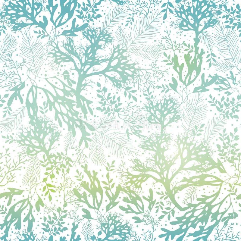 För Freen för vektor bakgrund för modell för blå textur havsväxt sömlös Utmärkt för elegant grått tyg, kort som gifta sig inbjudn stock illustrationer