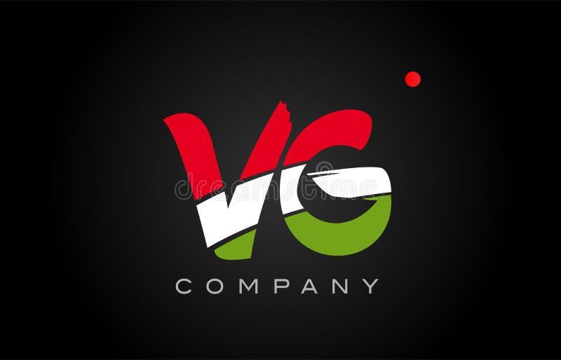 För G-alfabet för VG V design för alfabet för symbol för kombination för logo för bokstav royaltyfri illustrationer