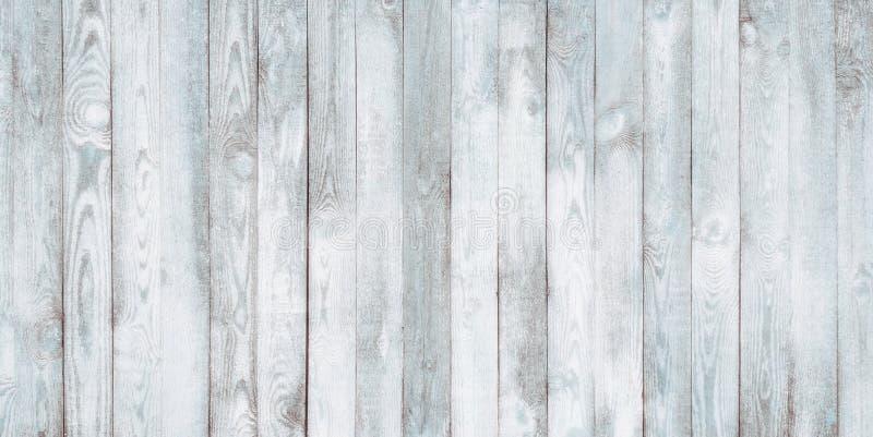För gamla sjaskiga bakgrund för vägg vitblått för tappning Wood royaltyfri foto