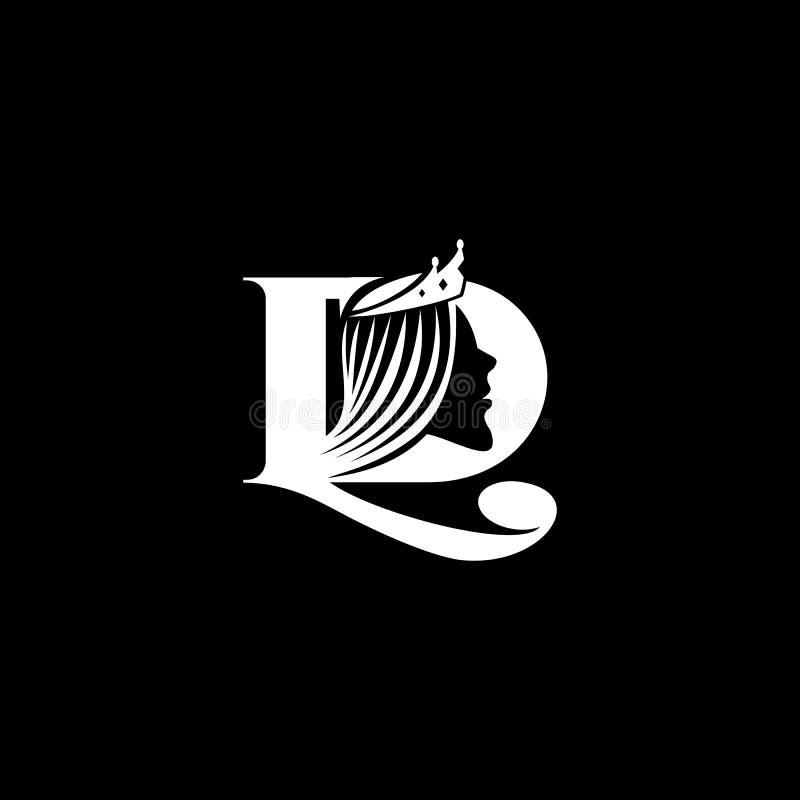 För garneringlogo för LD kvinnlig vektor vektor illustrationer