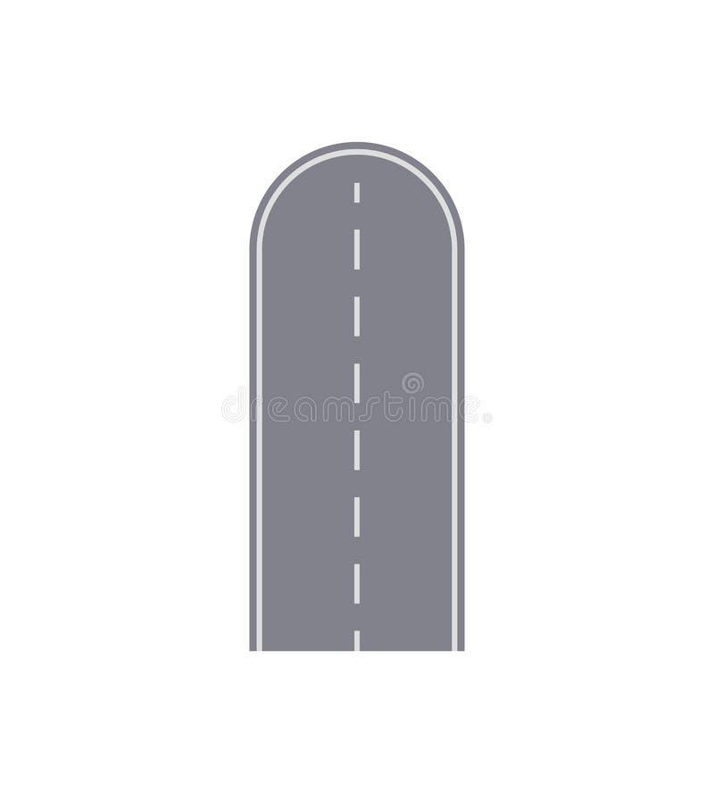 För gataöversikt för återvändsgränd väg isolerat segment royaltyfri illustrationer
