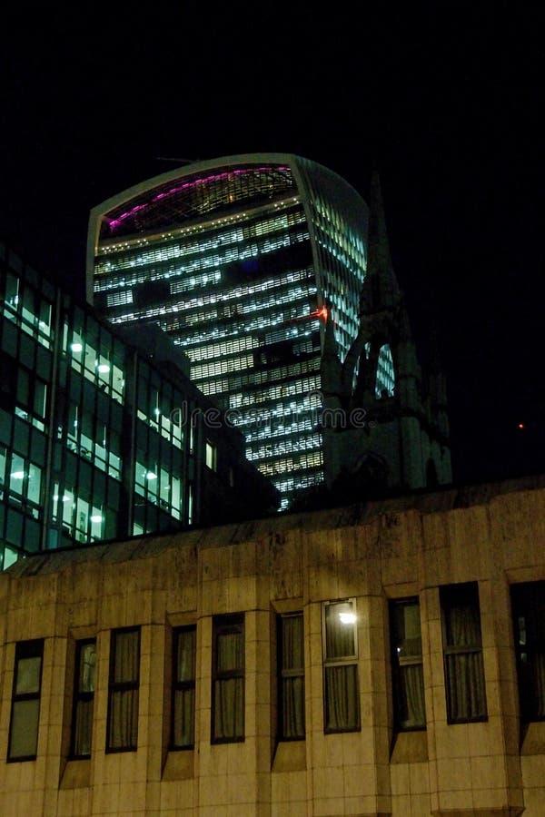 För gatawalkie-talkie för 20 Fenchurch byggnad - London, UK arkivbild