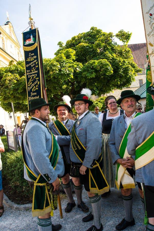 för Gautrachten för th 129 festival folklore royaltyfri bild