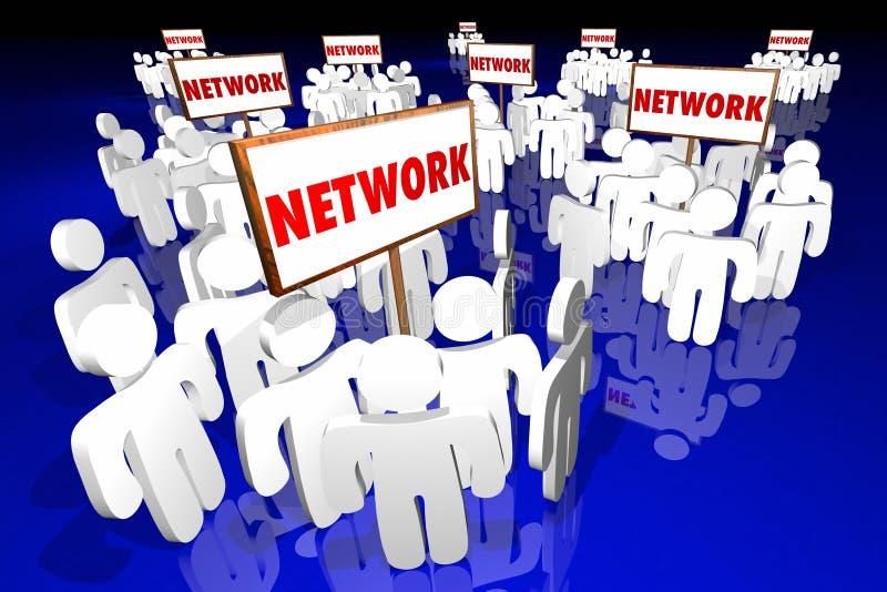 För gemenskapgrupper för nätverk socialt tecken för folk vektor illustrationer