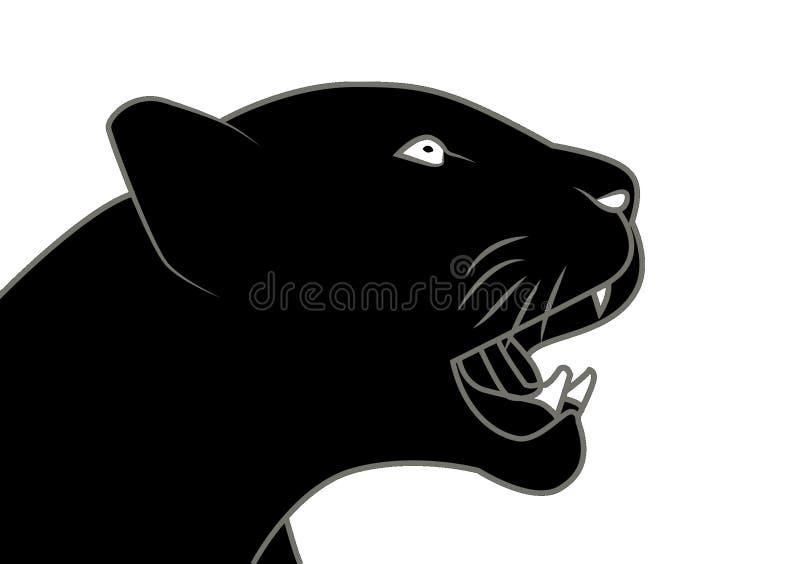 För gemkonst för svart panter illustration royaltyfri illustrationer