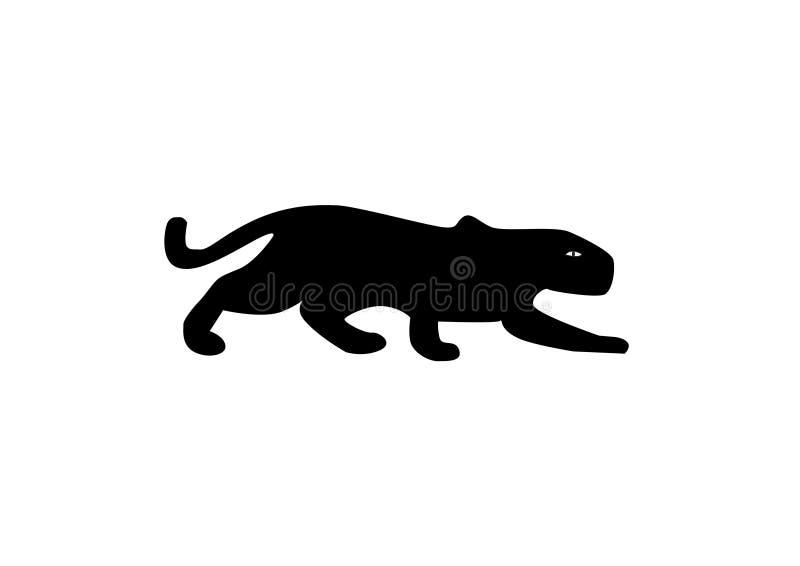 För gemkonst för svart panter illustration för vektor vektor illustrationer