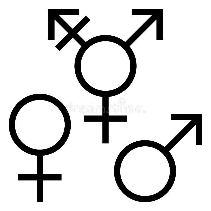 för genusillustration för begrepp 3d symboler vektor illustrationer