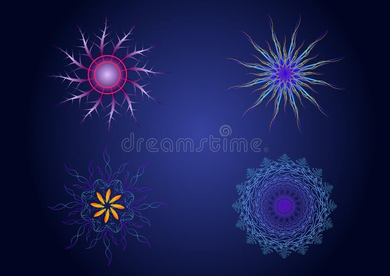 För geometrifärg för vektor sakrala symboler stock illustrationer