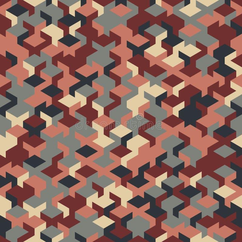 För geometrikub för vektor modern sömlös modell, abstrakt geometriskt stock illustrationer
