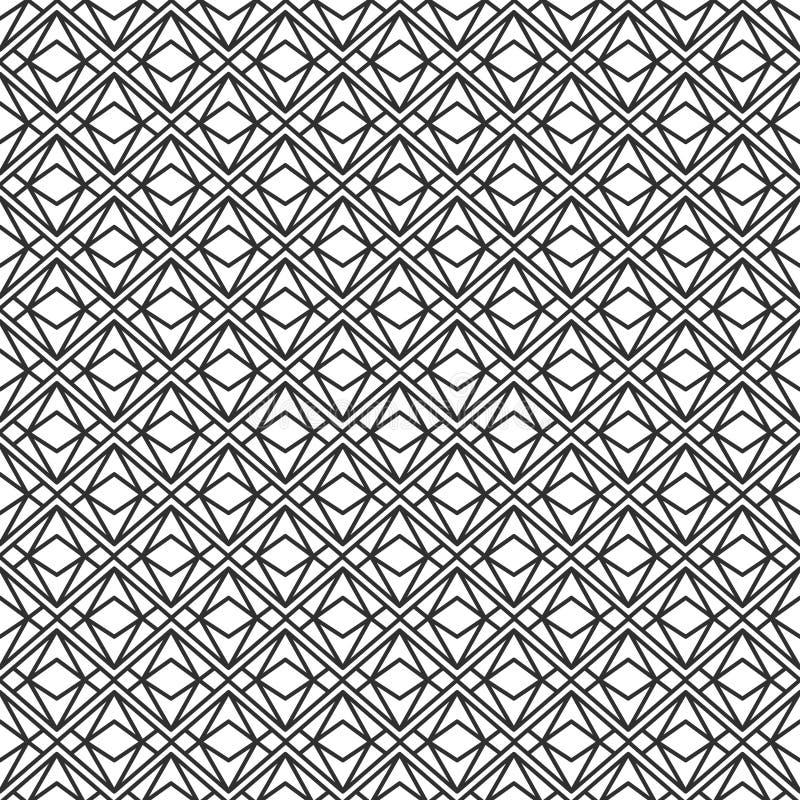 För geometrimodell för vektor modern sömlös triangel, svartvit abstrakt geometrisk bakgrund vektor illustrationer