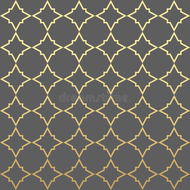 För geometrimodell för vektor modern sexhörning, abstrakt geometrisk bakgrund, moderiktigt tryck, monokrom retro textur, oriental stock illustrationer