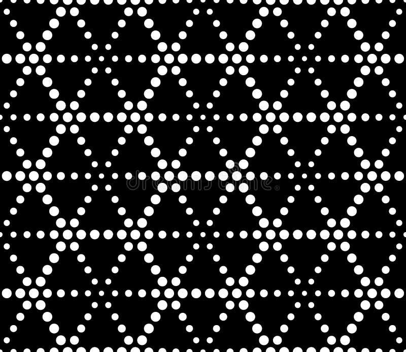 För geometrimodell för vektor moderna sömlösa sakrala prickar, svartvitt abstrakt begrepp stock illustrationer