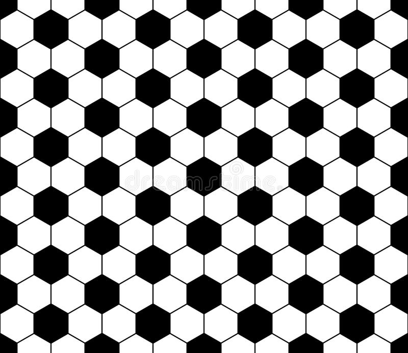 För geometrimodell för vektor som modern sömlös fotboll är svartvit vektor illustrationer