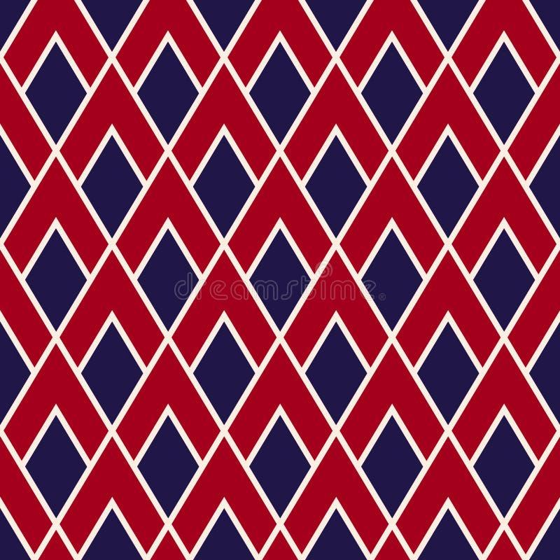 För geometrimodellen för vektorn färgar den moderna sömlösa triangeln, USA abstrakt geometrisk bakgrund royaltyfri illustrationer