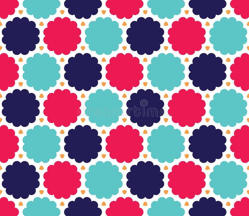 För geometrimoln för vektor modern sömlös färgrik modell, blått rosa färgabstrakt begrepp för färg vektor illustrationer