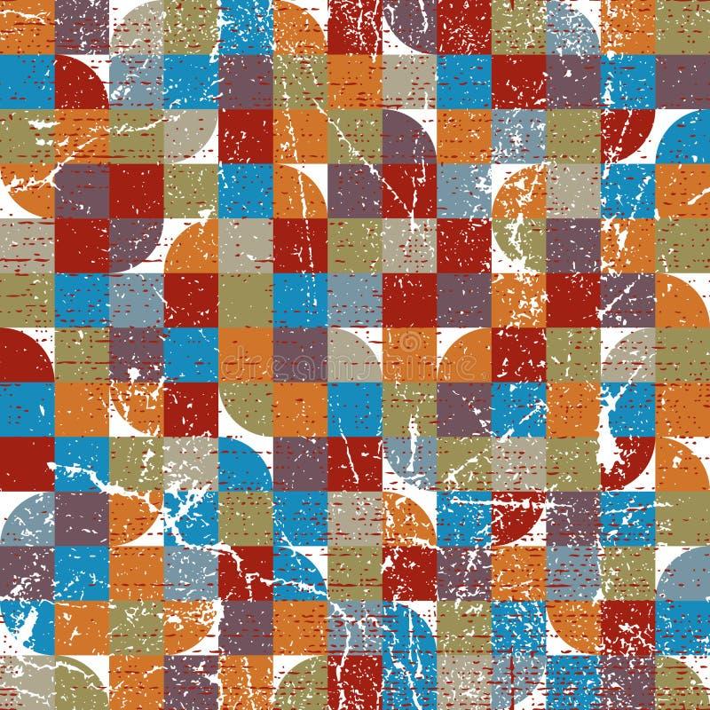 För geometriskt färgrikt sömlös modell textilabstrakt begrepp för vektor, jol vektor illustrationer