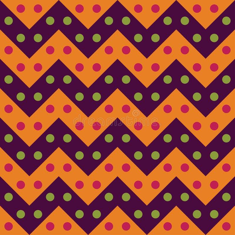 För geometrisparre för vektor mönstrar färgar moderna sömlösa färgrika linjer, den purpurfärgade apelsinen, abstrakt begrepp stock illustrationer