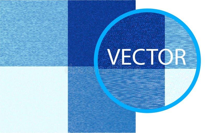 För ginghamtyg för vektor blå textur för en traditionell bordduk, gardiner, pläd, etc. vektor illustrationer