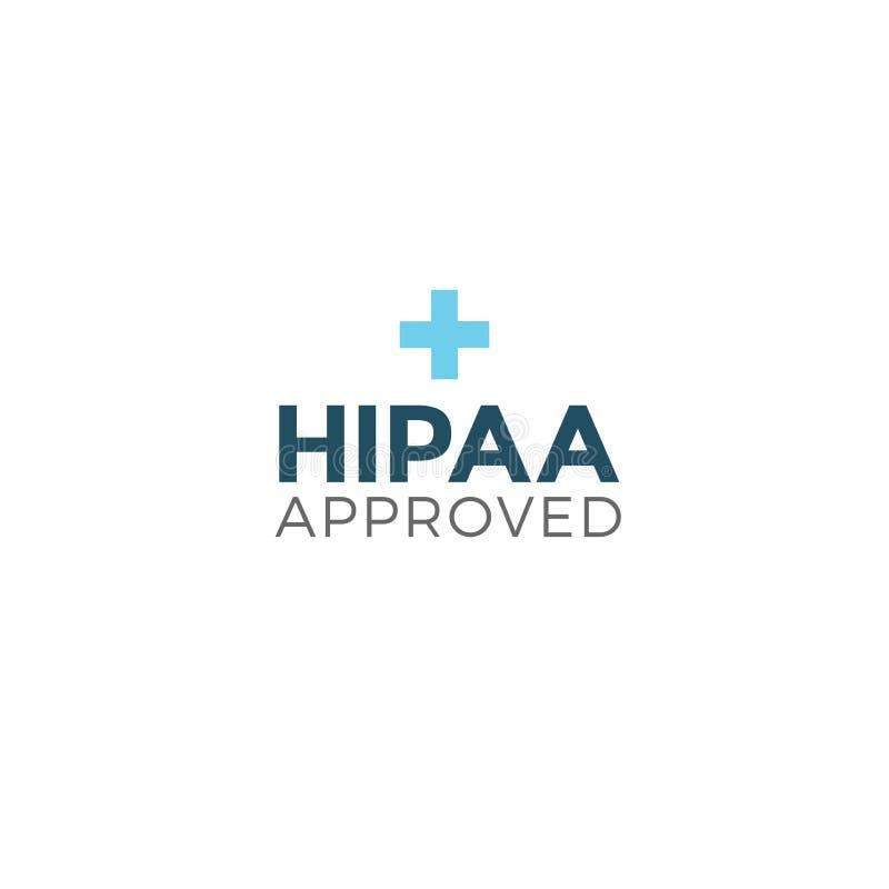 För godkännande- eller överensstämmelsesymbol för HIPAA godkänt diagram royaltyfri illustrationer