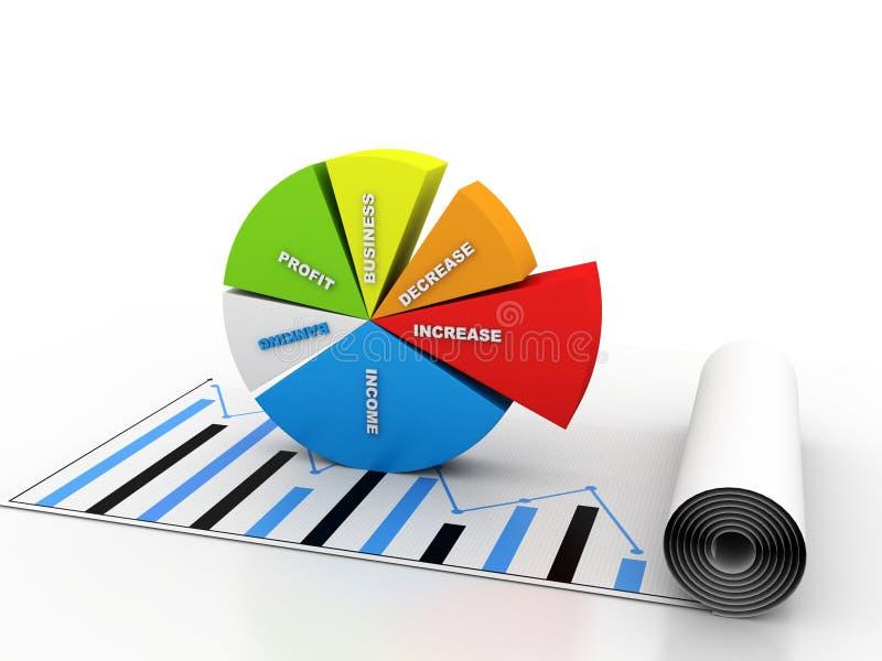 för grafmakro för affär dynamiska försäljningar arkivbilder