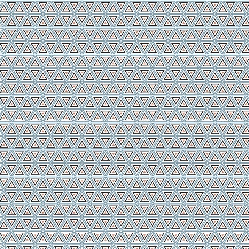 För Gray Plaid Ethnic Fabric Illustration för abstrakt geometrisk triangel bakgrund sömlös modell stock illustrationer
