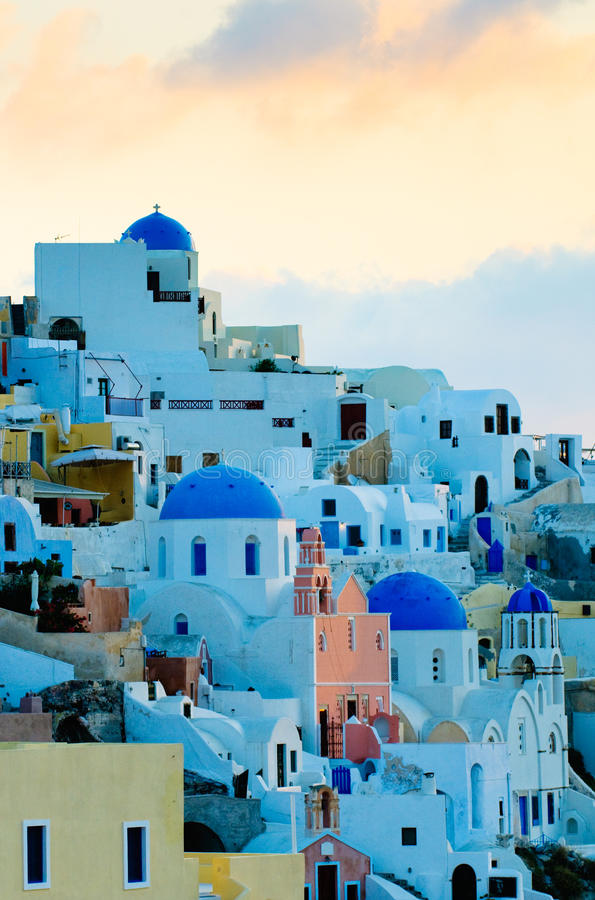 by för greece öoia santorini royaltyfri foto
