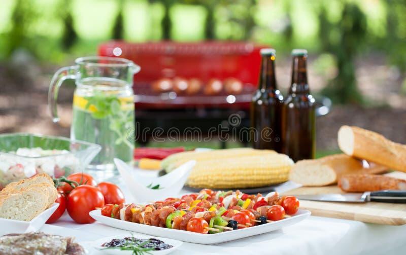 För grillfestparti royaltyfria bilder