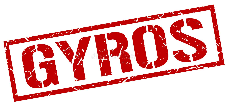 För grungefyrkant för gyroskop röd stämpel för tappning stock illustrationer