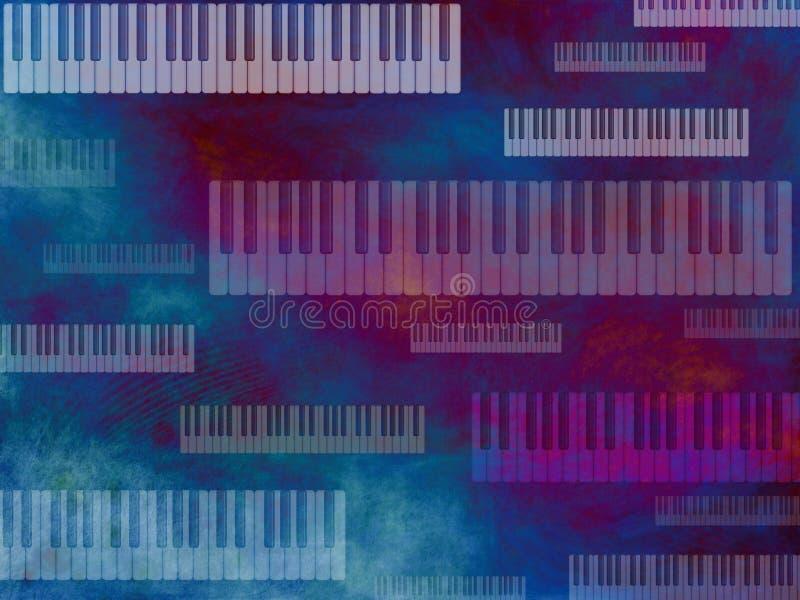för grungetangentbord för bakgrund mörk musik royaltyfri illustrationer