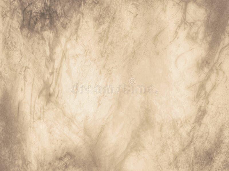 För grungetextur för Sepia beige sliten bakgrund, abstrakt brun grungeillustration royaltyfri illustrationer