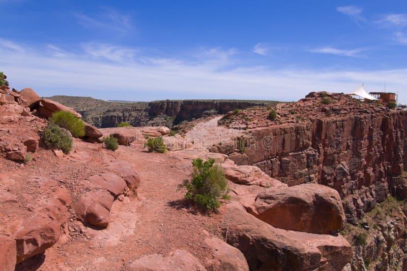 för guanopunkt för kanjon västra storslagen kant s fotografering för bildbyråer