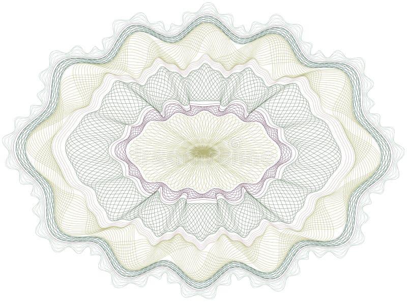 för guillochepengar för certifikat klassisk vektor royaltyfri illustrationer