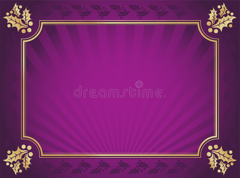 för guldjärnek för bakgrund klippt elegant purple stock illustrationer