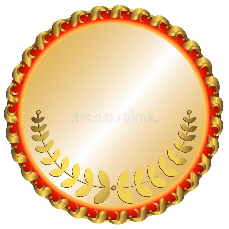 för guldmedaljvektor för bakgrund stor white stock illustrationer