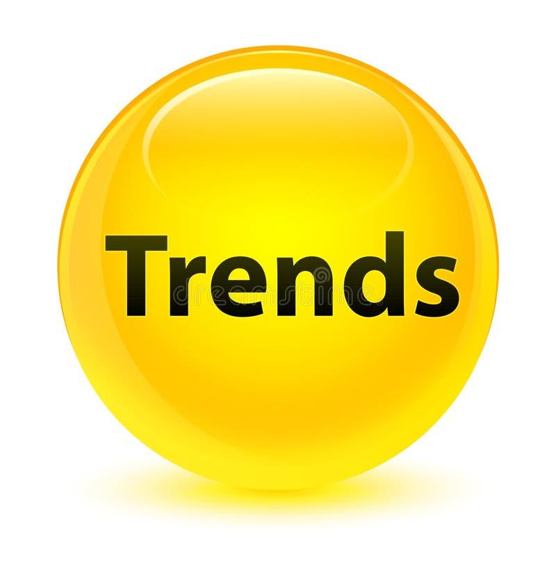 För gulingrunda för trender glas- knapp vektor illustrationer