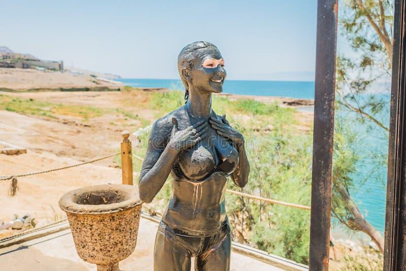 För gyttjakropp för dött hav behandling Jordanien för omsorg royaltyfri foto