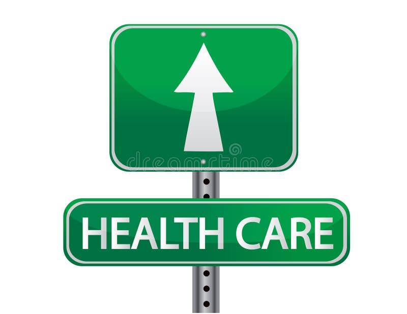 för hälsoillustration för omsorg grönt tecken royaltyfri illustrationer