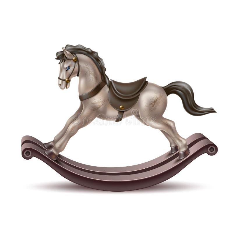 För hästtappning 3d för vektor realistisk vagga leksak royaltyfri illustrationer