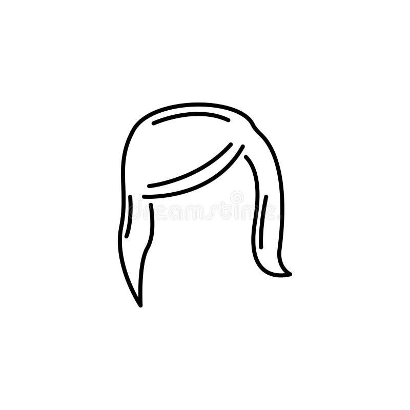 För håröversikt för mänskligt organ kvinnlig symbol Tecknet och symboler kan användas för rengöringsduken, logoen, den mobila app vektor illustrationer