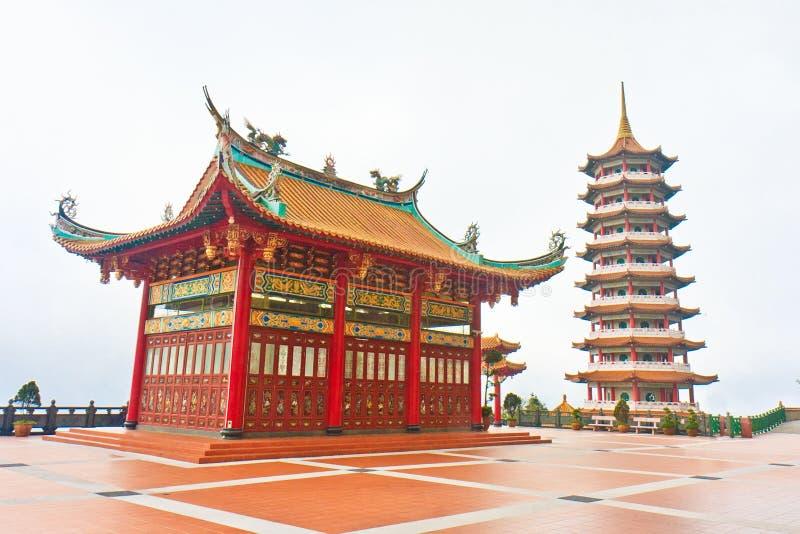 för höglandpagoda för haka kinesisk genting swee royaltyfri fotografi