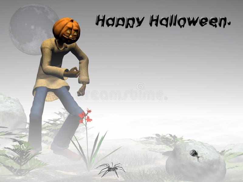 Download För Halloween För Dimmig Skog Pumpa Lycklig Stålar Stock Illustrationer - Illustration av blomma, gammalt: 285761