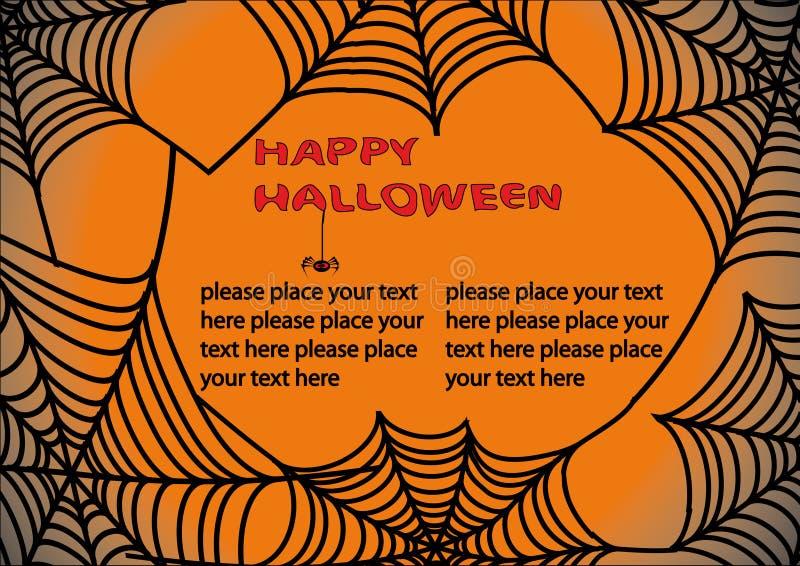 för halloween s för 3 bakgrund rengöringsduk spindel royaltyfri illustrationer