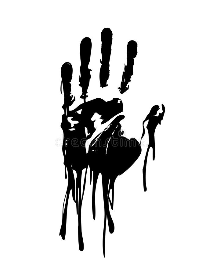 För handdiagram för svart blodig vektor royaltyfri illustrationer