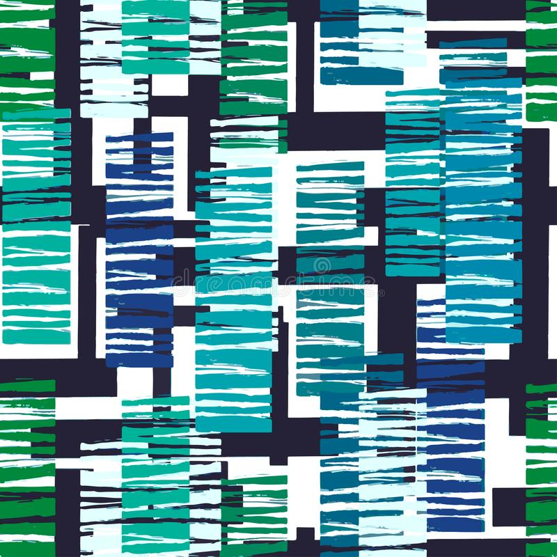 För handhantverk för sömlösa ljusa band geometrisk upprepande expressi stock illustrationer