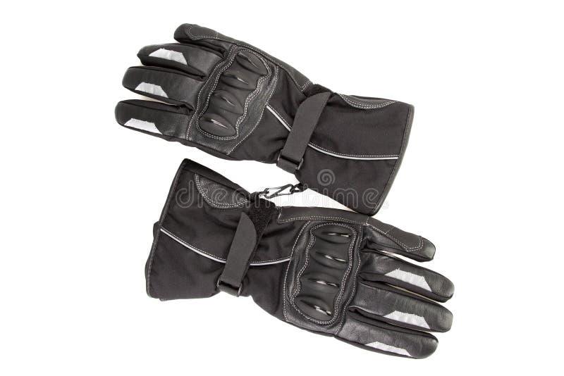 För handskemotorcykel för bästa sikt svart för cyklisthandryttare royaltyfri fotografi