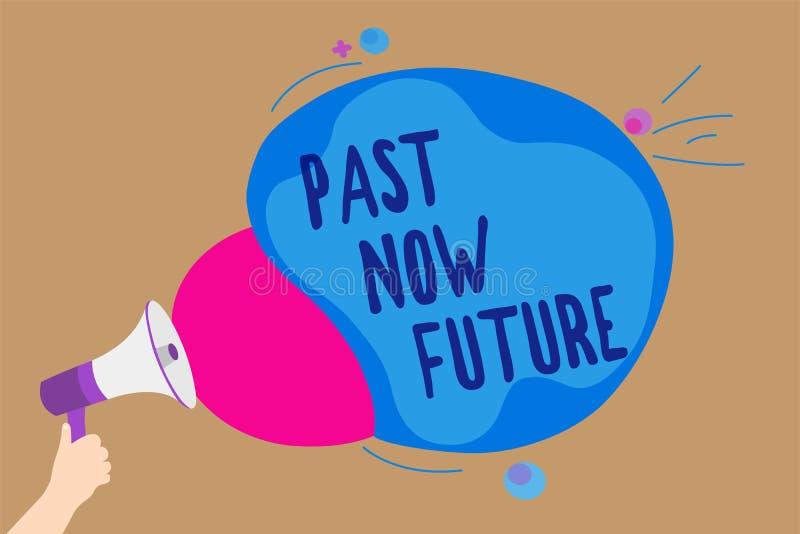 För handskrifttexthandstil för forntid framtid nu Åtgärdar följa för menande sista gången för begrepp närvarande Destiny Memories royaltyfri illustrationer